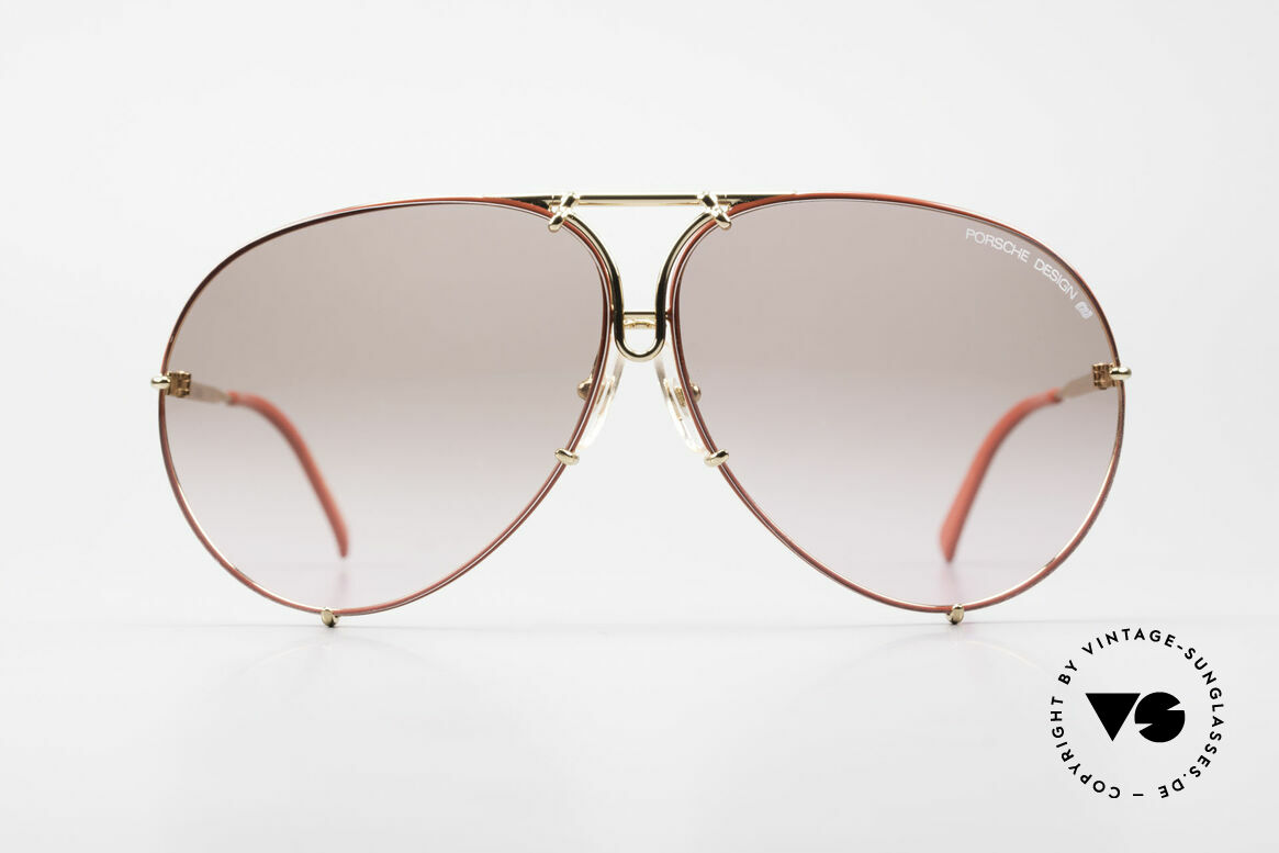 Porsche 5621 80's Shades Special Edition, RARE SPECIAL EDITION = gold-plated / red frame, Made for Men and Women