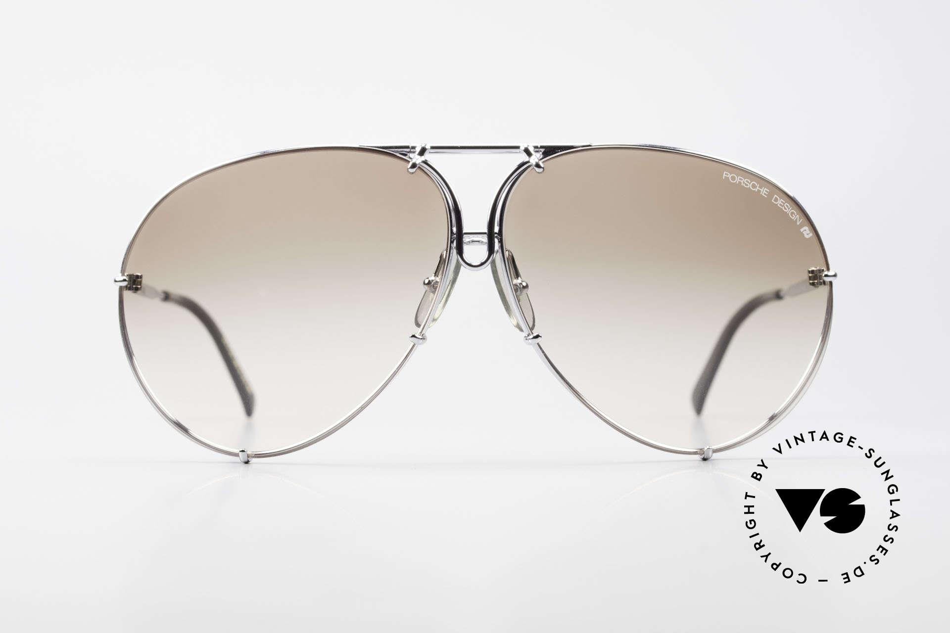 Porsche 5621 80's Sunglass Classic For Men, a true sunglass' classic for men in chrome-silver, Made for Men