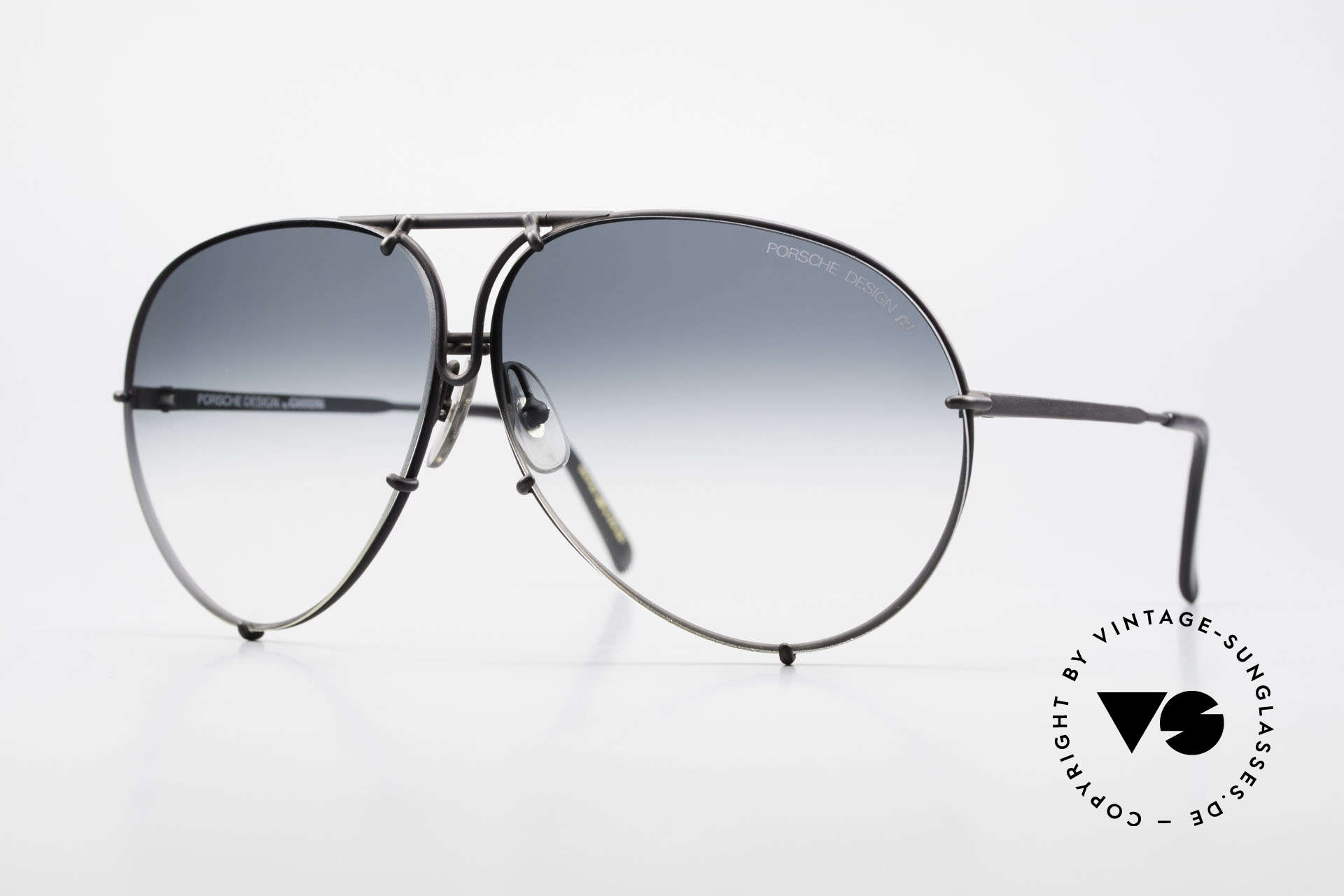 Porsche 5621 Rare 80's Aviator Sunglasses, old Porsche Design sunglasses with changeable lens, Made for Men