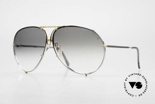 Porsche 5621 Old 80's Bicolor Sunglasses Details