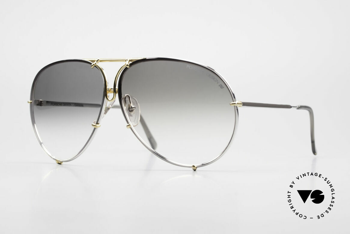 Porsche 5621 Old 80's Bicolor Sunglasses, old 80's Porsche sunglasses with changeable lenses, Made for Men