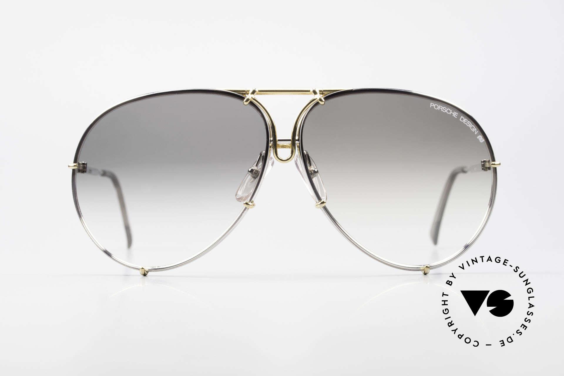 Porsche 5621 Old 80's Bicolor Sunglasses, a true sunglass' classic for men: bicolor (gold/silver), Made for Men