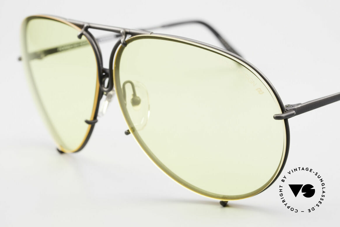 Porsche 5621 Yellow Lenses Kalichrome 80's, lenses intensify light & increase contrasts (100% UV), Made for Men