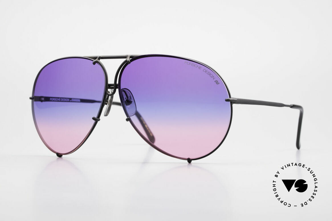 Porsche 5621 Tricolor Limited Edition 80's, old 80's Porsche glasses with gray changeable lenses, Made for Men