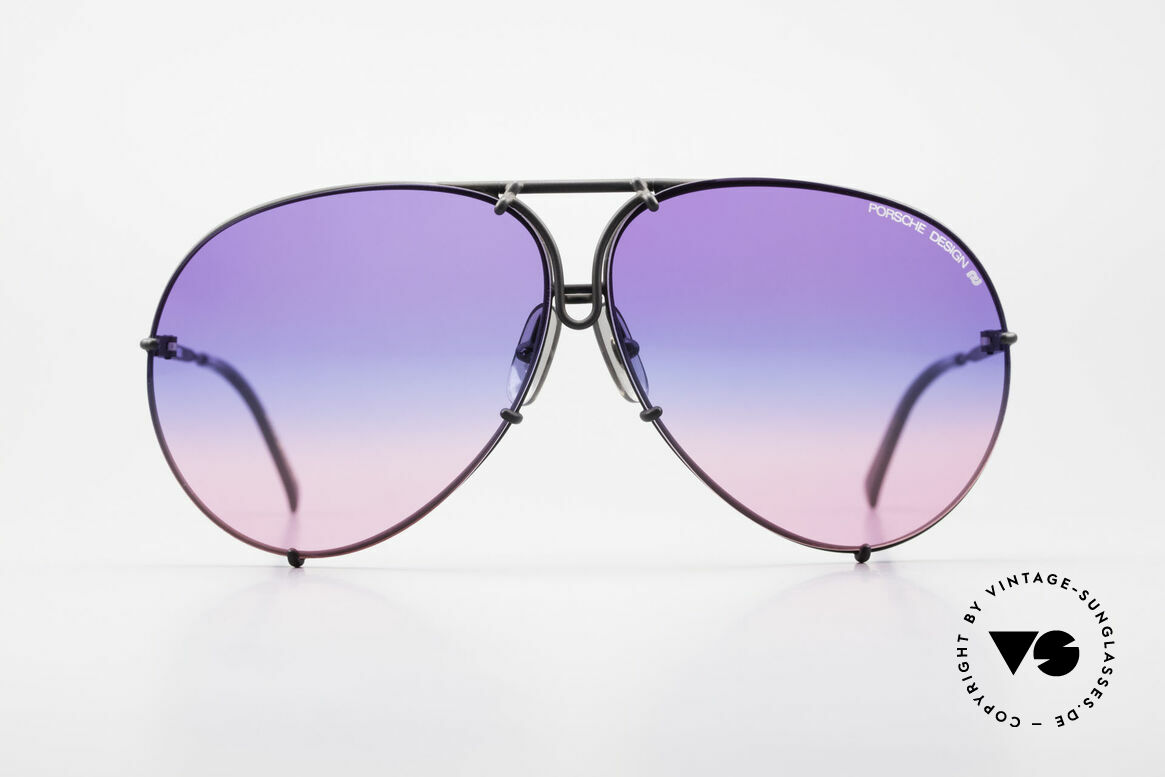 Porsche 5621 Tricolor Limited Edition 80's, a legendary sunglass' classic for men in dulled black, Made for Men