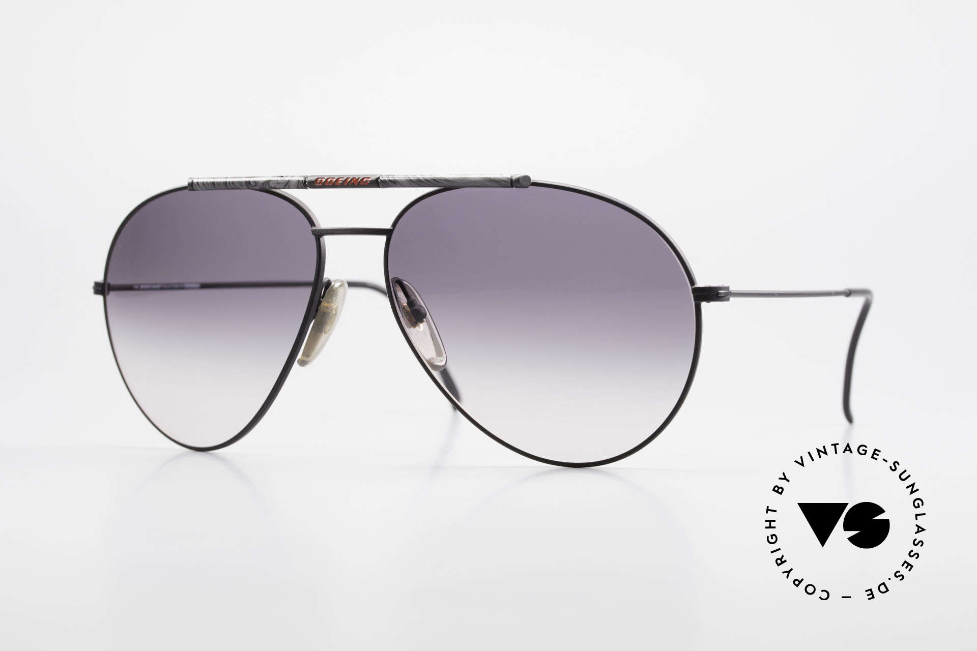 Boeing 5706 Rare 80s Aviator Sunglasses XL, the legendary 'The BOEING Collection by Carrera', Made for Men