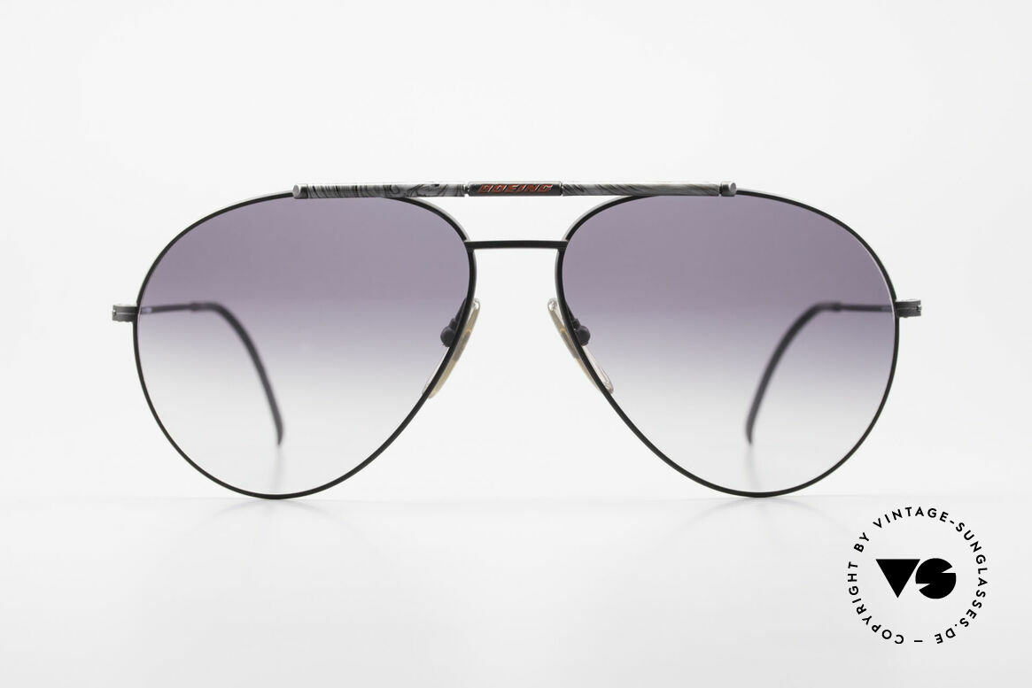 Boeing 5706 Rare 80s Aviator Sunglasses XL, made for the Boeing pilots needs from 1988-1990, Made for Men