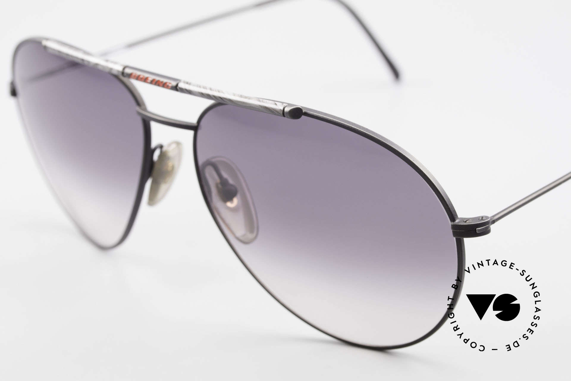 Boeing 5706 Rare 80s Aviator Sunglasses XL, 'large' 63/15 size in the 80's = X-Large size, today, Made for Men
