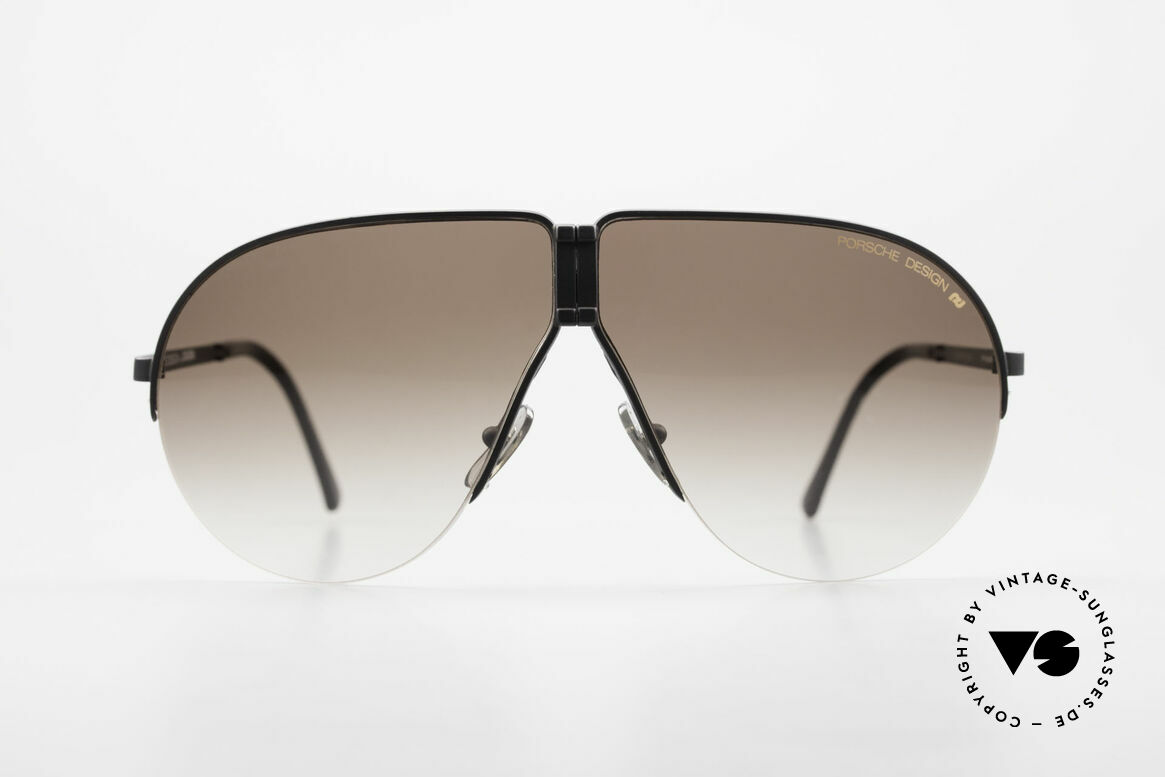 Porsche 5628 80's Folding Aviator Sunglasses, noble designer model, incl. orig. Porsche folding case, Made for Men