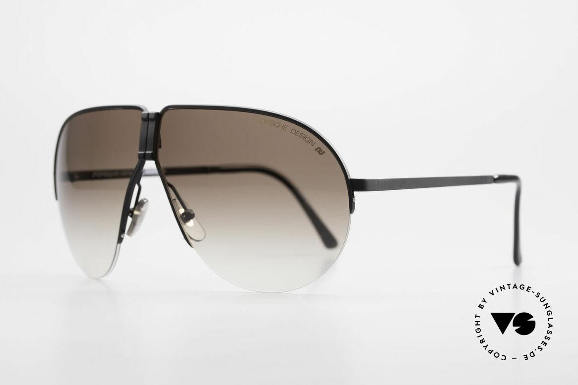 Porsche 5628 80's Folding Aviator Sunglasses, half rimless frame (lightweight) very pleasant to wear, Made for Men