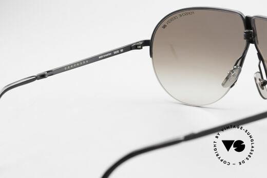 Porsche 5628 80's Folding Aviator Sunglasses, with brown-gradient PORSCHE DESIGN lenses, 100% UV, Made for Men