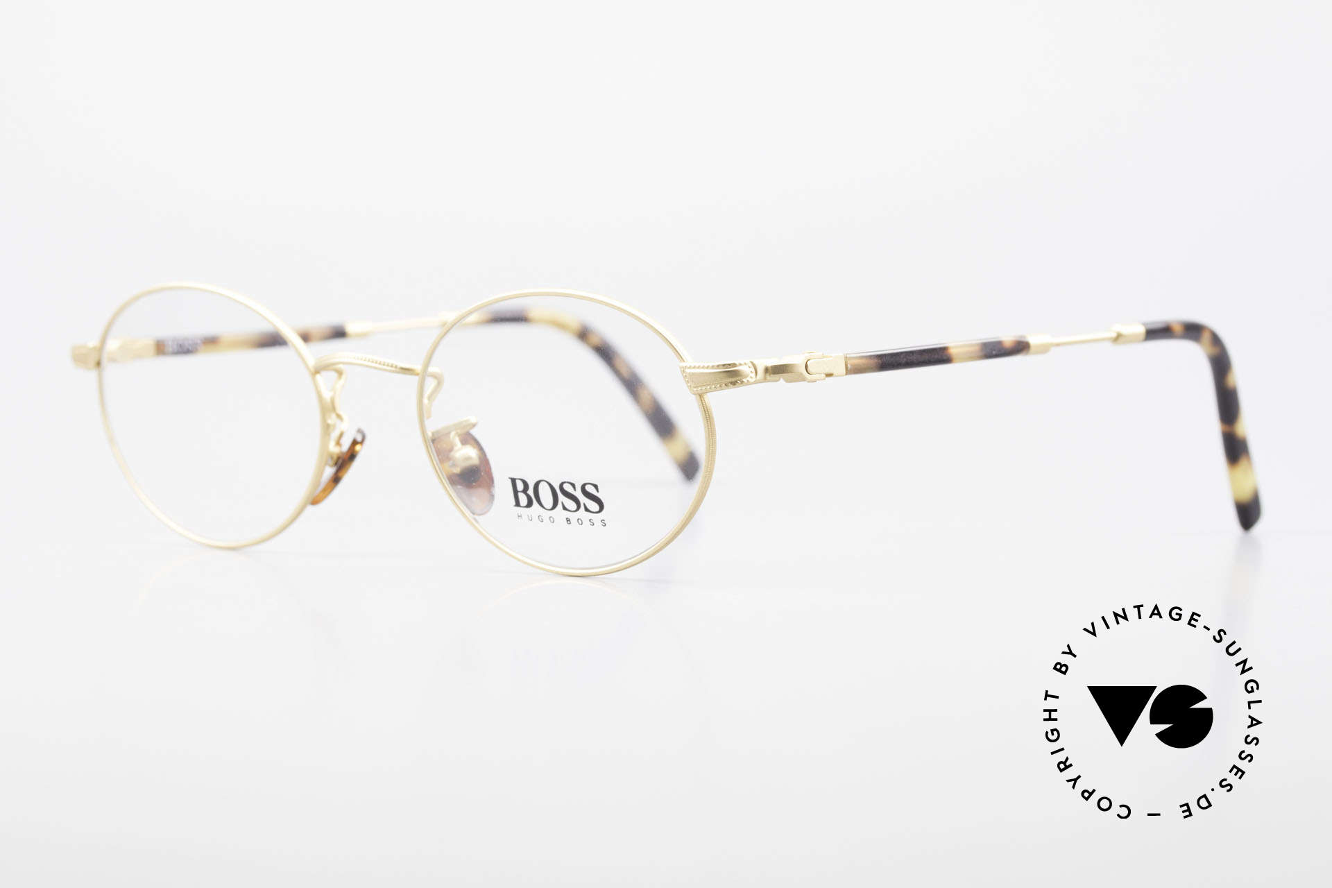 BOSS 5139 Oval Panto Eyeglass Frame, dressy color combination: tortoise / dulled gold, Made for Men and Women