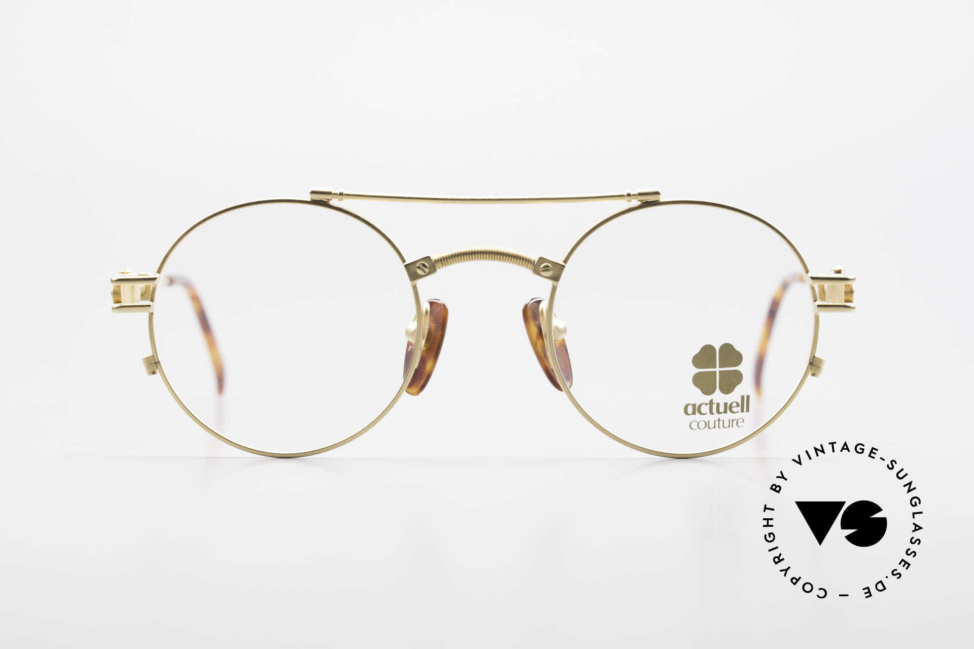 Actuell Couture 802 Round 80's Glasses Steampunk, top-notch quality and material combination, Made for Men and Women