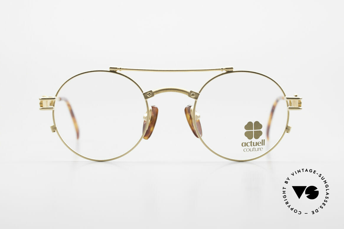 Actuell Couture 802 Round 80's Glasses Steampunk, round glasses by Actuell Couture, Germany, Made for Men and Women