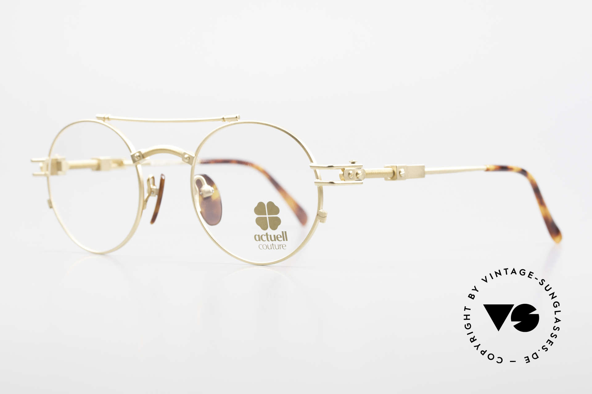 Actuell Couture 802 Round 80's Glasses Steampunk, frame with many fancy details, Steampunk!, Made for Men and Women