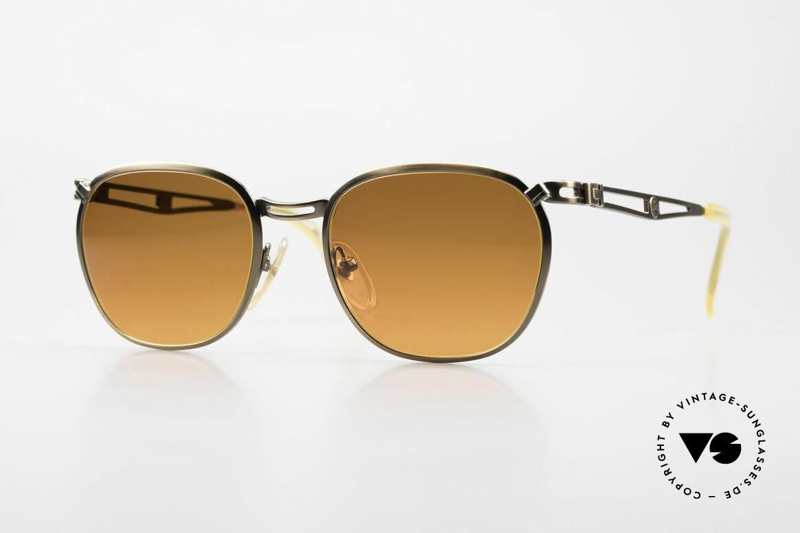 Jean Paul Gaultier 56-2177 Sunset Lenses Orange Gradient, 1990's designer sunglasses by Jean Paul Gaultier, Made for Men and Women