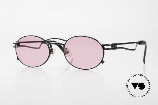 Jean Paul Gaultier 56-3173 Pink Oval Vintage Sunglasses Details