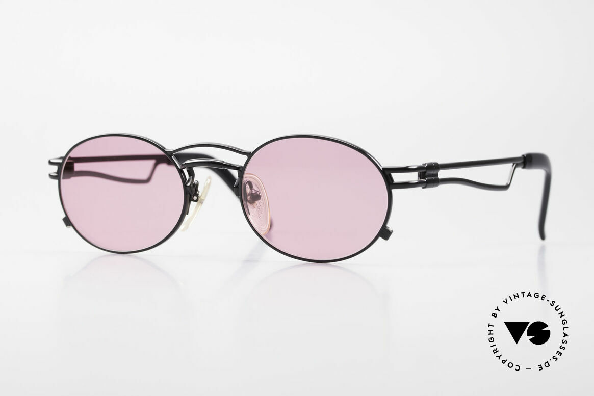 Jean Paul Gaultier 56-3173 Pink Oval Vintage Sunglasses, true vintage 1990's Jean Paul GAULTIER sunglasses, Made for Men and Women