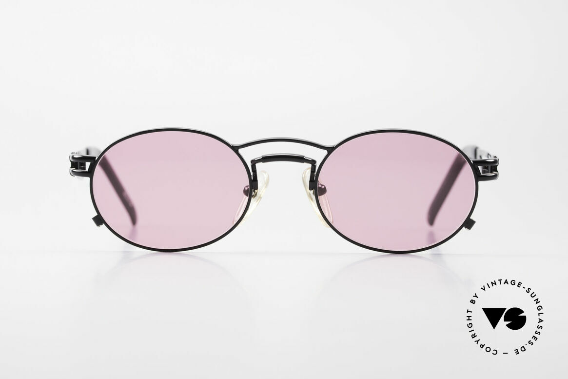 Jean Paul Gaultier 56-3173 Pink Oval Vintage Sunglasses, oval lens shape and with superior wearing comfort, Made for Men and Women