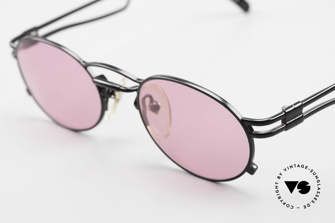 Jean Paul Gaultier 56-3173 Pink Oval Vintage Sunglasses, pink: to see the world through rose-colored glasses, Made for Men and Women