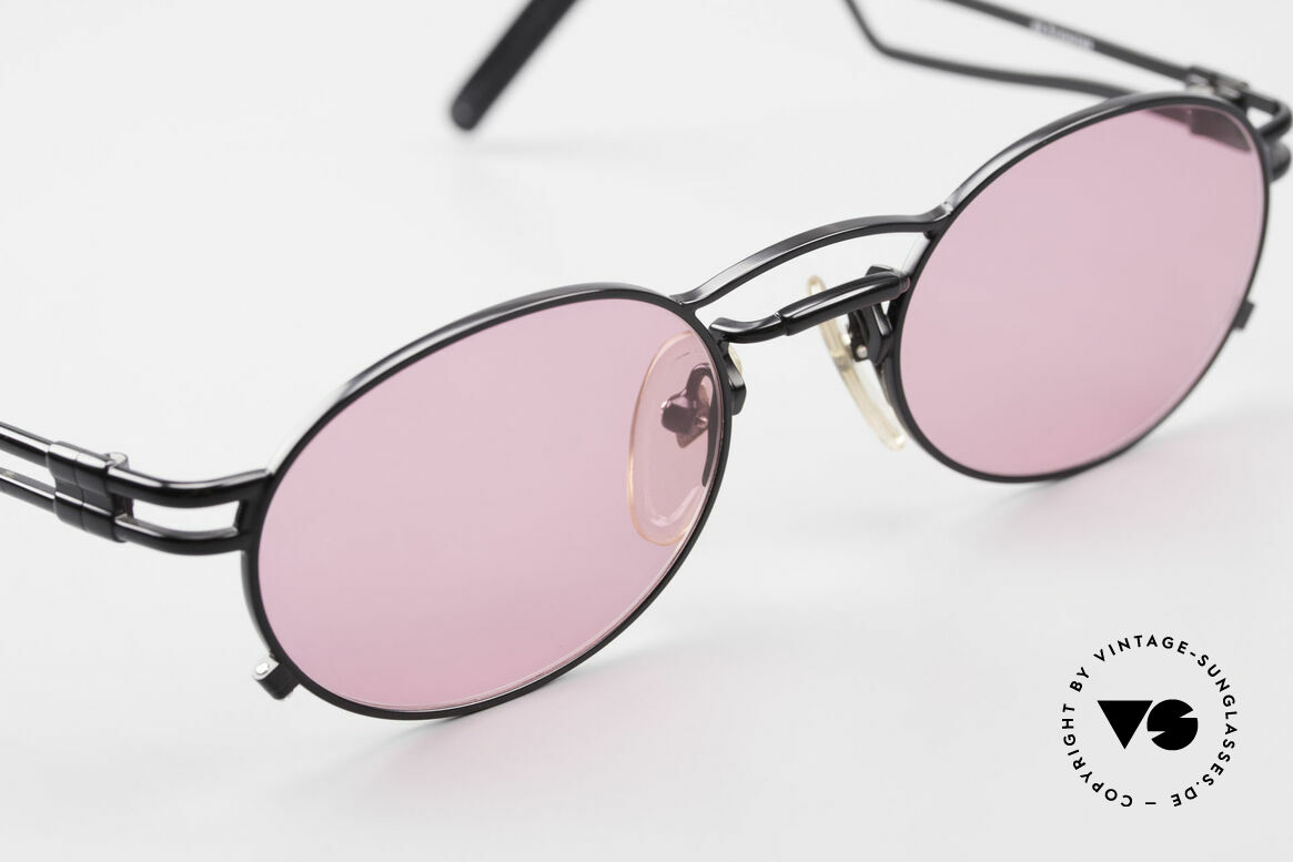 Jean Paul Gaultier 56-3173 Pink Oval Vintage Sunglasses, unworn, NOS (like all our rare 90's designer shades), Made for Men and Women
