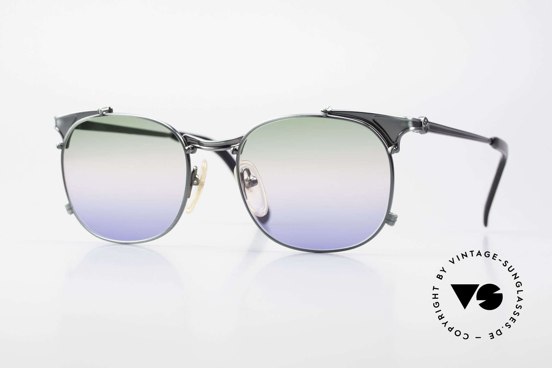 Jean Paul Gaultier 56-2175 Rare Tricolored Sun Lenses, rare vintage JEAN PAUL GAULTIER sunglasses, Made for Men and Women