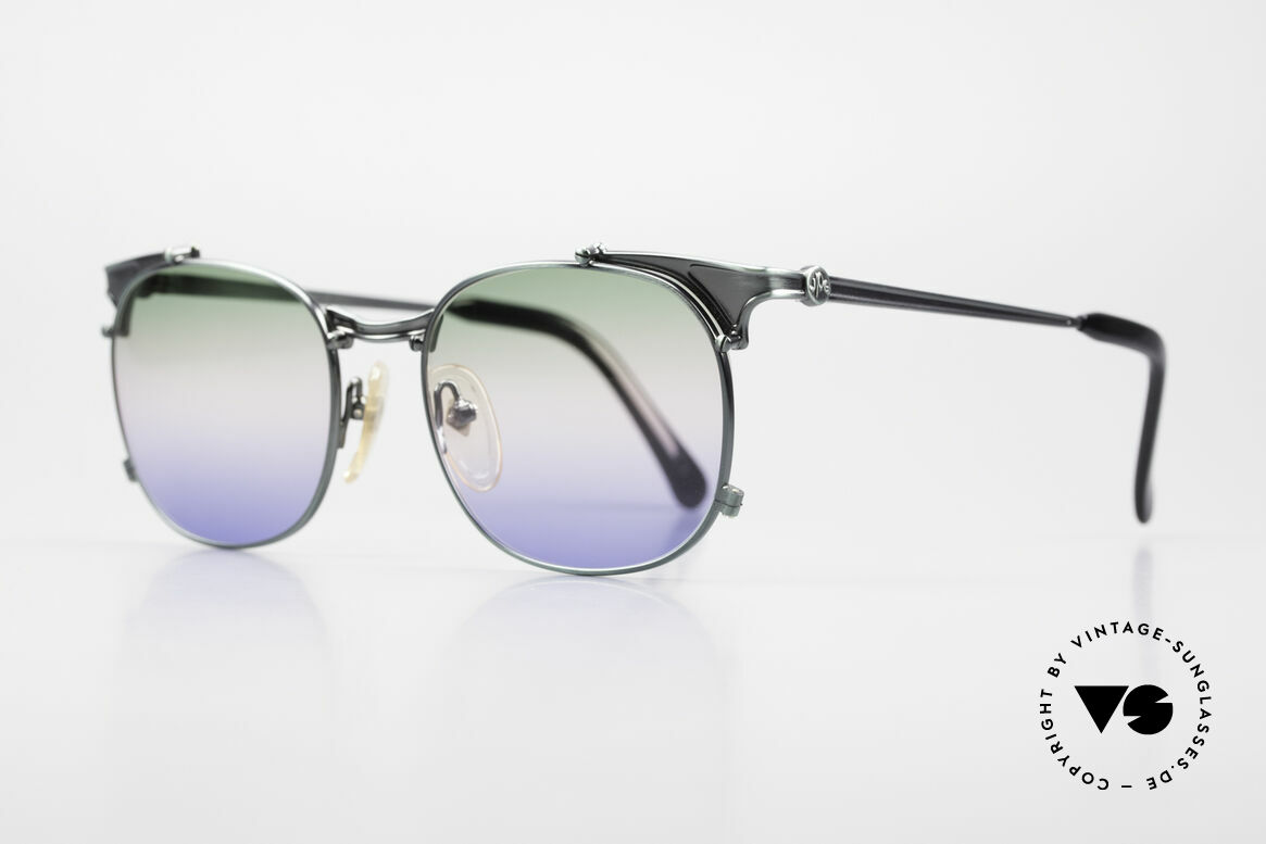 Jean Paul Gaultier 56-2175 Rare Tricolored Sun Lenses, JPG unisex model: tangible HIGH-END quality, Made for Men and Women