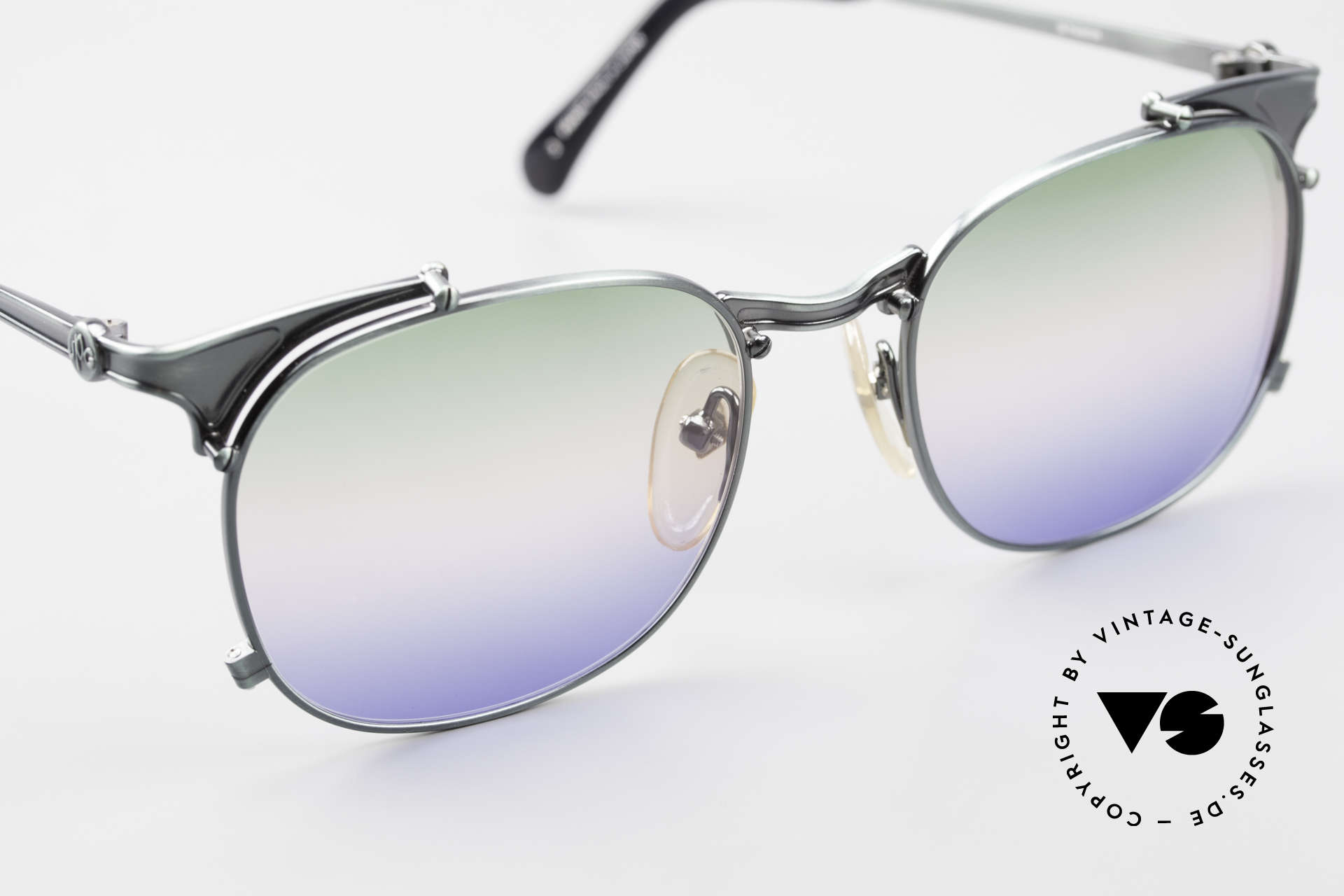 Jean Paul Gaultier 56-2175 Rare Tricolored Sun Lenses, unused (like all our Haute Couture sunglasses), Made for Men and Women