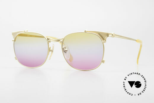 Jean Paul Gaultier 56-2175 Yellow Pink Gradient Lenses Details