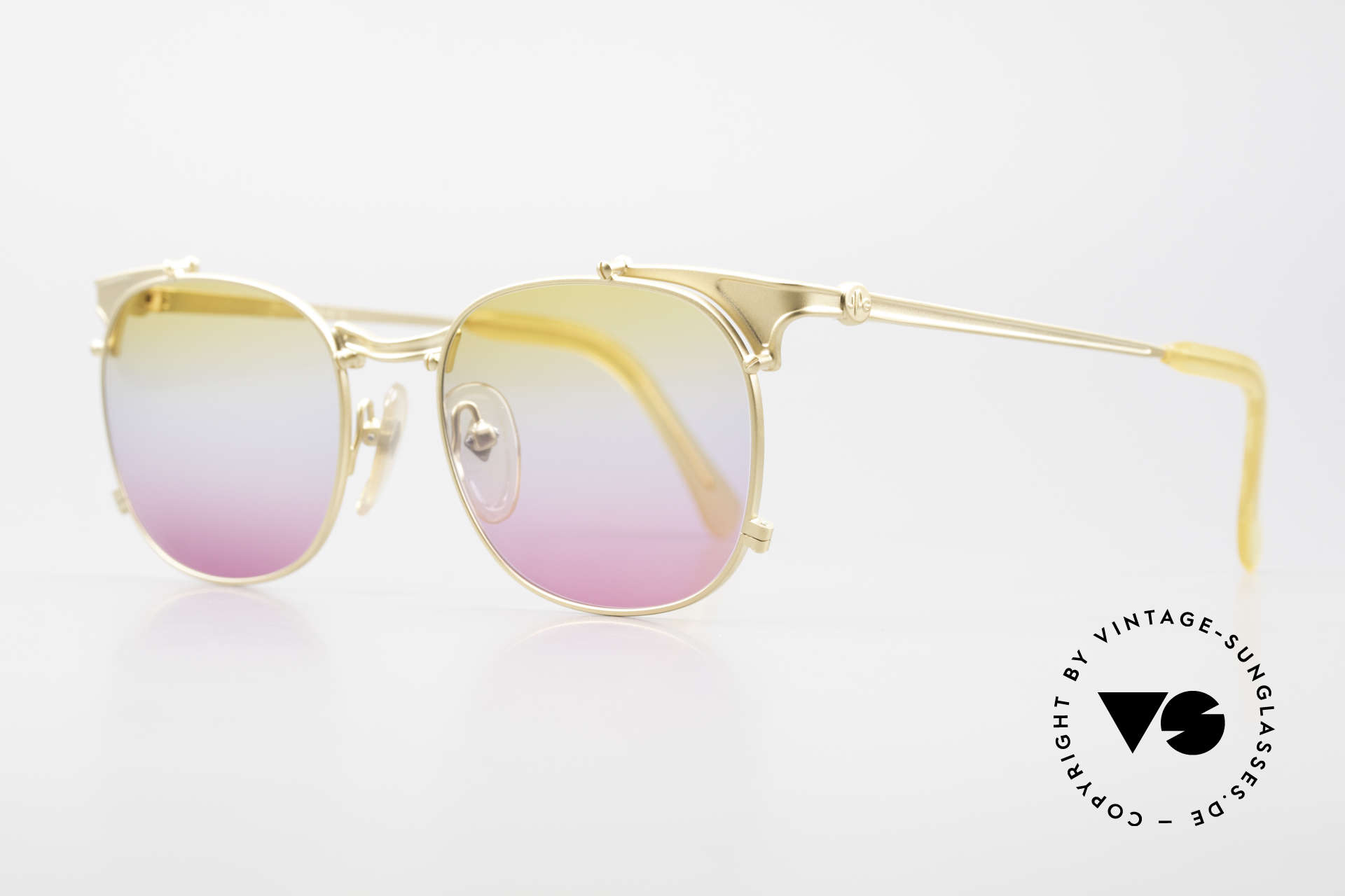 Jean Paul Gaultier 56-2175 Yellow Pink Gradient Lenses, JPG unisex model: tangible HIGH-END quality, Made for Men and Women