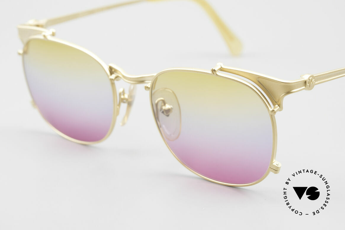Jean Paul Gaultier 56-2175 Yellow Pink Gradient Lenses, FANCY color combination from yellow to pink, Made for Men and Women