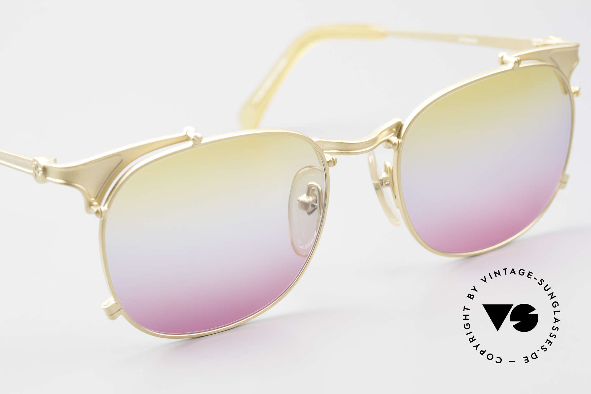 Jean Paul Gaultier 56-2175 Yellow Pink Gradient Lenses, unused (like all our Haute Couture sunglasses), Made for Men and Women