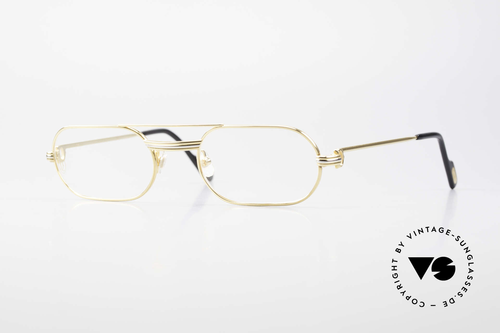 Cartier MUST LC Rose - S Limited Rosé Gold Eyeglasses, MUST: the first model of the Lunettes Collection '83, Made for Men and Women