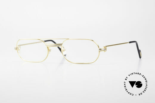 Cartier MUST LC Rose - S Limited Rosé Gold Eyeglasses Details