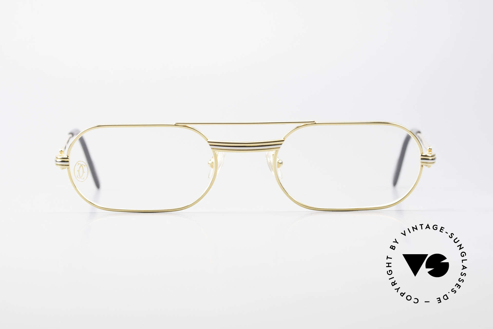 Cartier MUST LC Rose - S Limited Rosé Gold Eyeglasses, this pair with Louis Cartier decor, S size 53/20, 130, Made for Men and Women