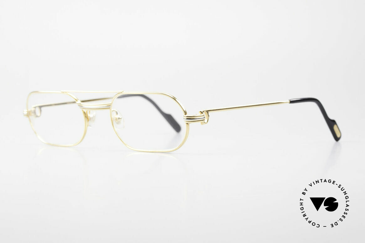 "Cartier MUST LC Rose - S Limited Rosé Gold Eyeglasses, worn by Elton John (video ""I'm still standing"", 1983), Made for Men and Women"