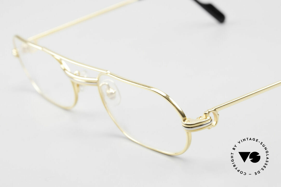 Cartier MUST LC Rose - S Limited Rosé Gold Eyeglasses, LIMITED ROSÉ-GOLD SERIES (the finish looks warmer), Made for Men and Women