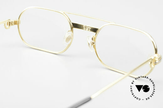 Cartier MUST LC Rose - S Limited Rosé Gold Eyeglasses, NO RETRO eyewear; a 35 years old vintage ORIGINAL!, Made for Men and Women
