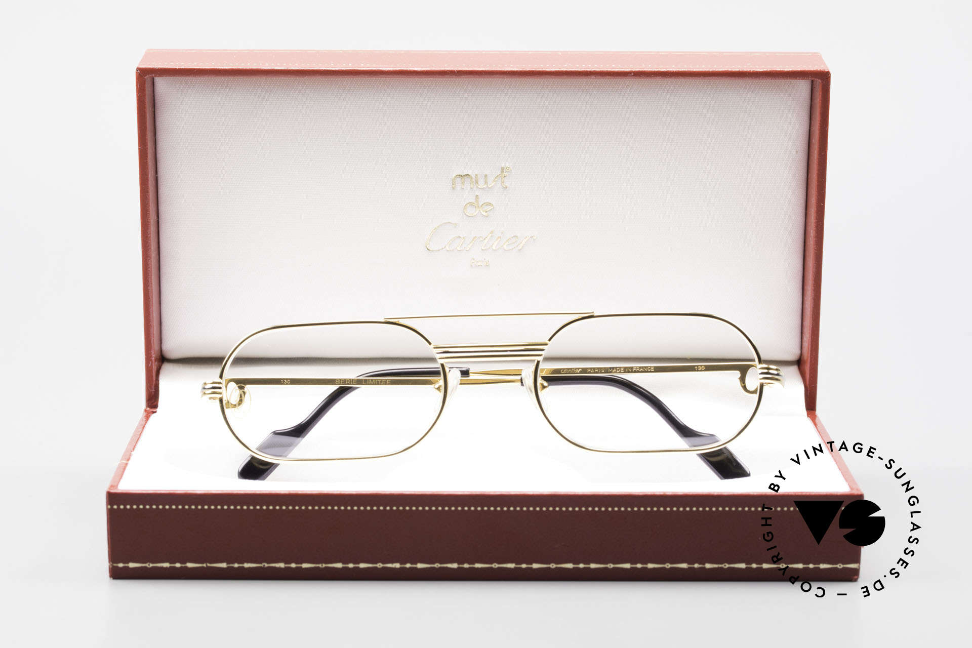 Cartier MUST LC Rose - S Limited Rosé Gold Eyeglasses, Size: medium, Made for Men and Women
