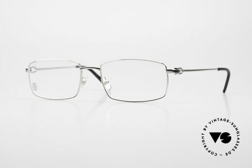 Cartier River - M Square Frame Luxury Platinum Details