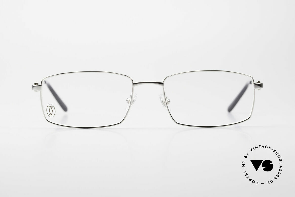 Cartier River - M Square Frame Luxury Platinum, men's model of the 'DÉCOR C' Collection by Cartier, Made for Men