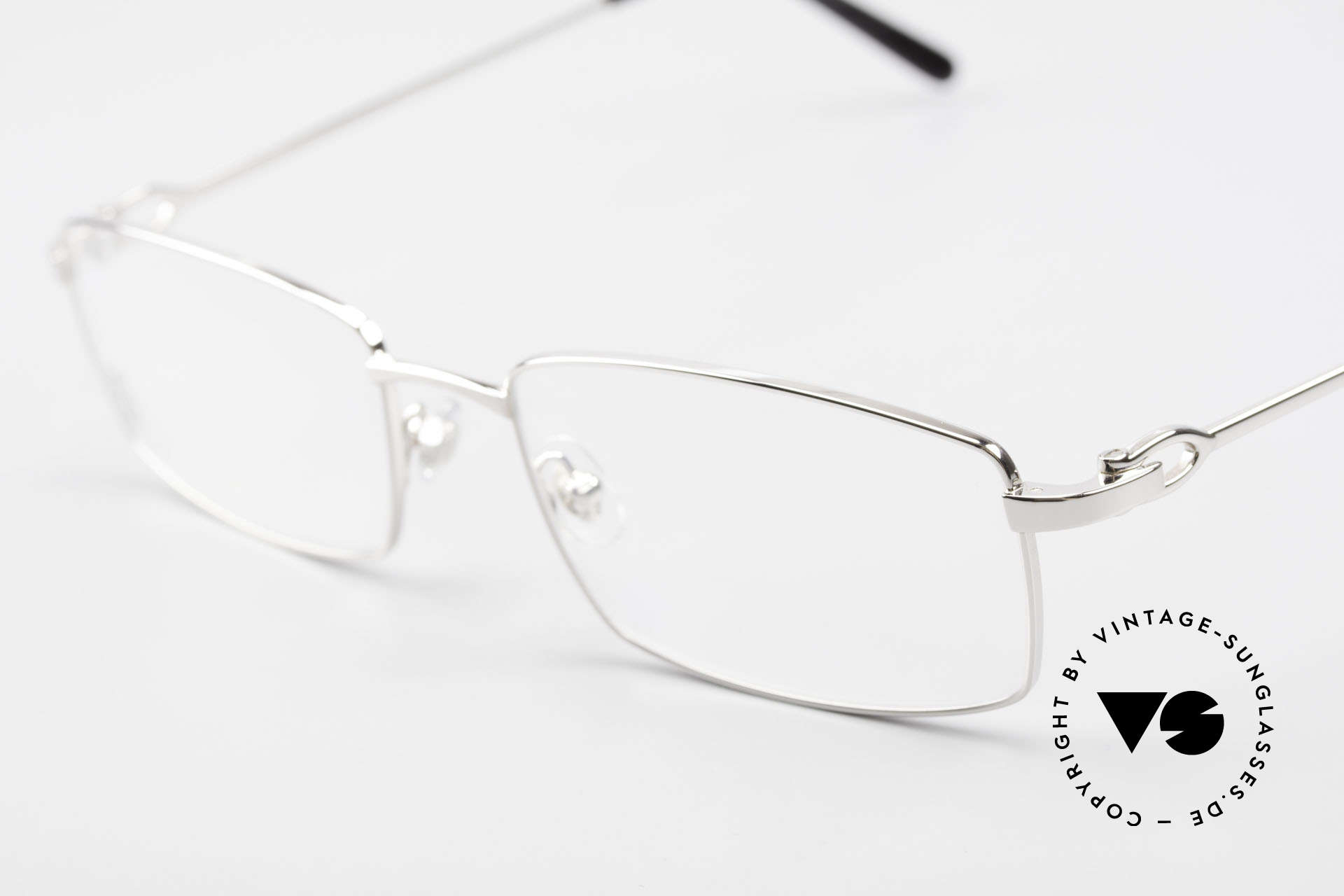 Cartier River - M Square Frame Luxury Platinum, unworn luxury frame with original case and packing, Made for Men