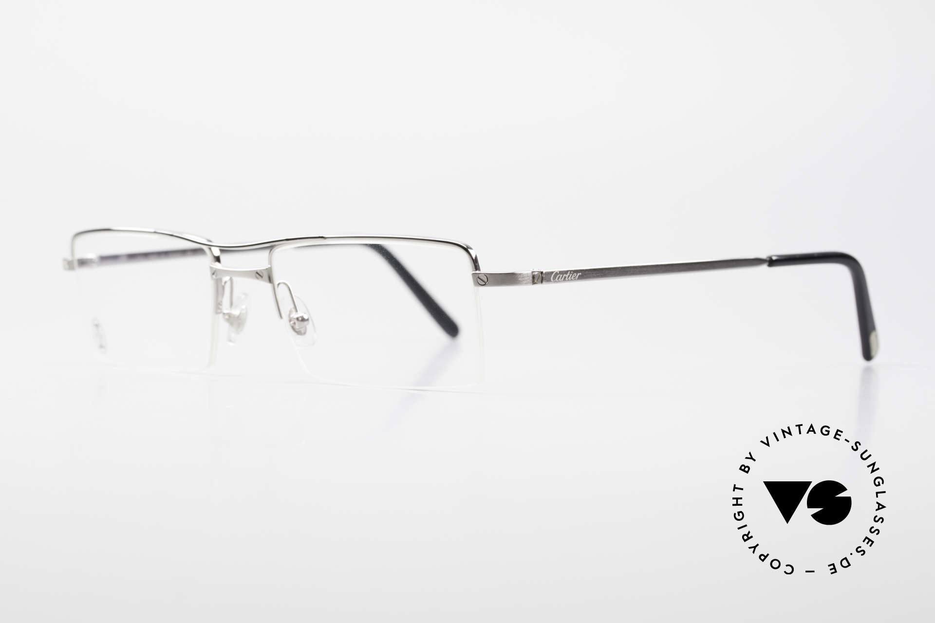 Cartier Semi T-Double Square Men's Titanium Glasses, precious original in a timeless design, top quality, Made for Men