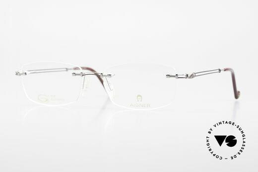 Aigner EA498 Rimless Vintage Glasses 90's Details