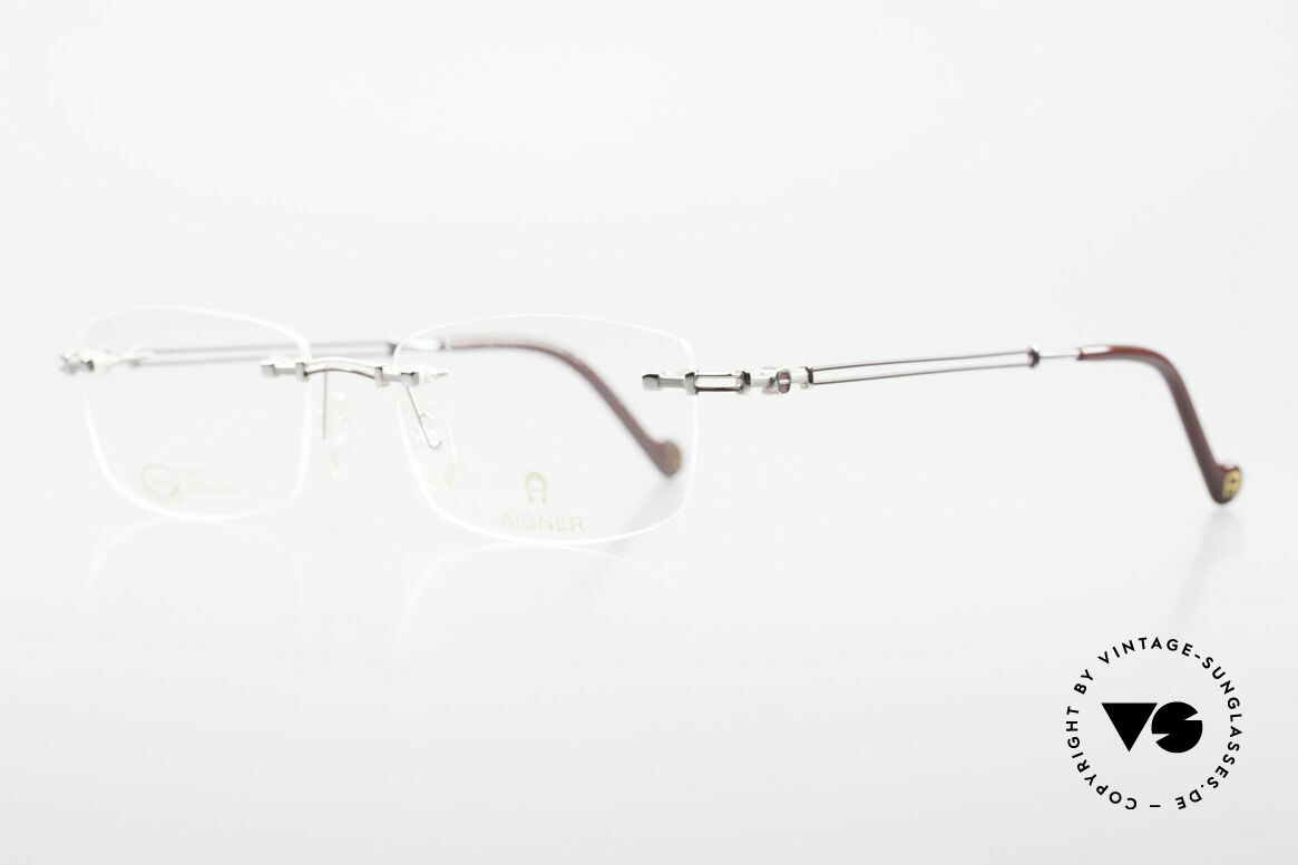 Aigner EA498 Rimless Vintage Glasses 90's, top-notch quality and very pleasant to wear; lightweight, Made for Men and Women