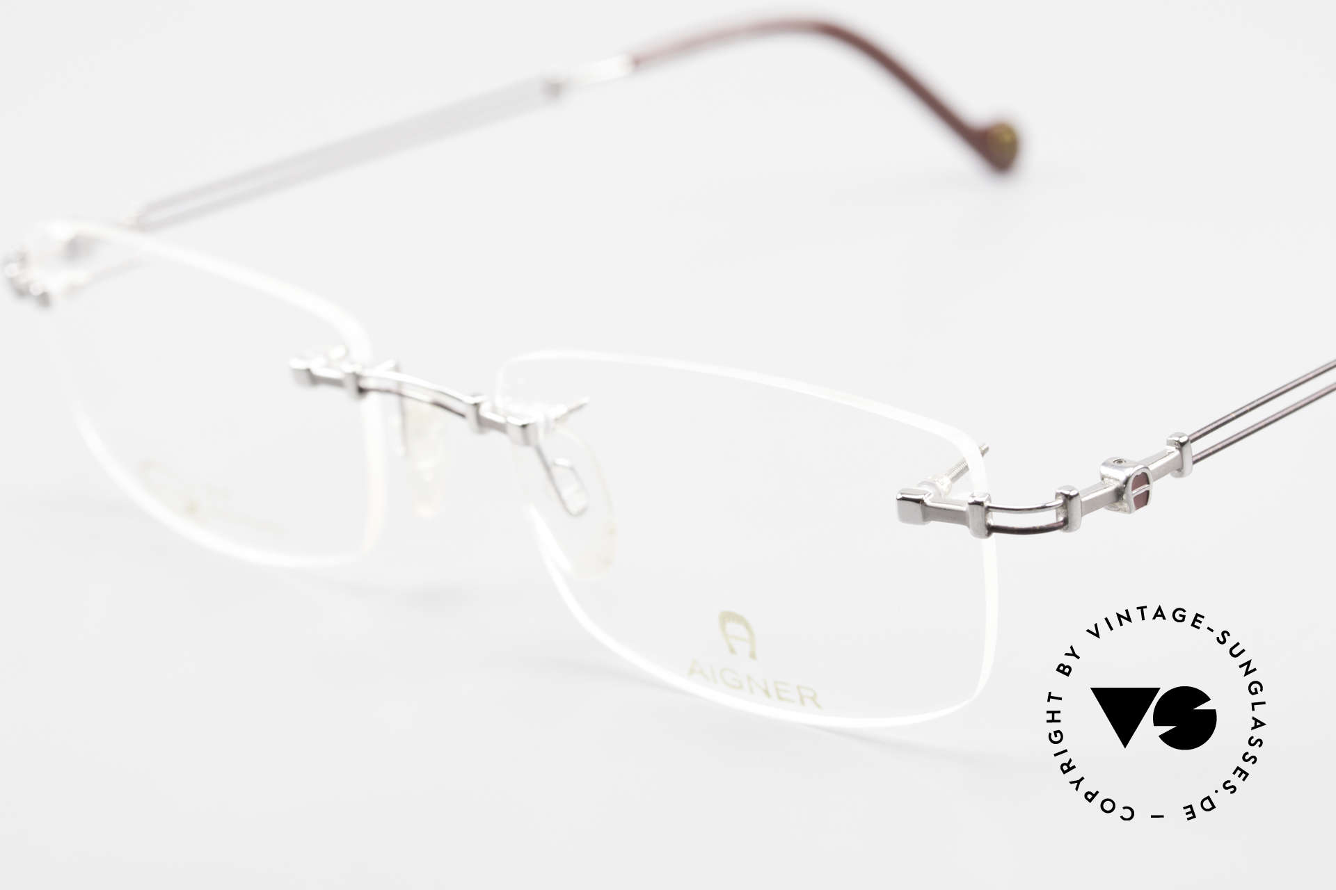 Aigner EA498 Rimless Vintage Glasses 90's, allergy-free and 18kt gold-plated parts; made in Germany, Made for Men and Women