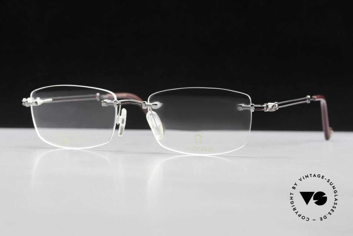 Aigner EA498 Rimless Vintage Glasses 90's, Size: medium, Made for Men and Women