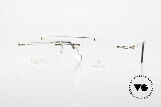 Aigner EA499 Rimless Vintage Glasses Men Details