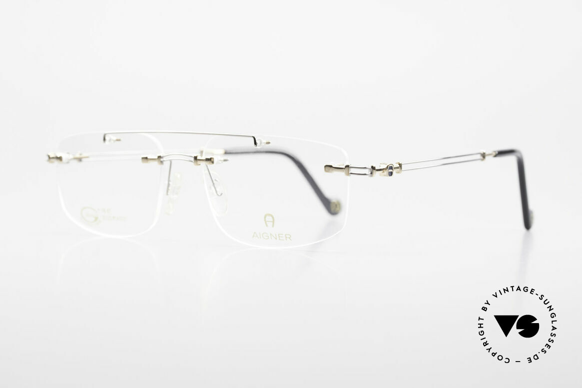 Aigner EA499 Rimless Vintage Glasses Men, top-notch quality and very pleasant to wear; lightweight, Made for Men
