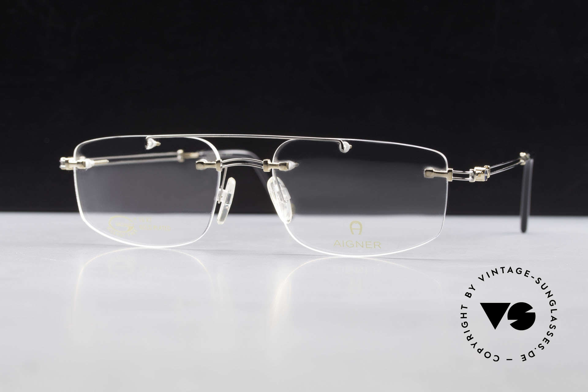 Aigner EA499 Rimless Vintage Glasses Men, Size: large, Made for Men